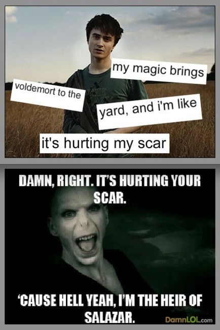 my magic brings voldemort to the yard. i laughed way too much at this. i mean...come on voldemorts face is HILARIOUS