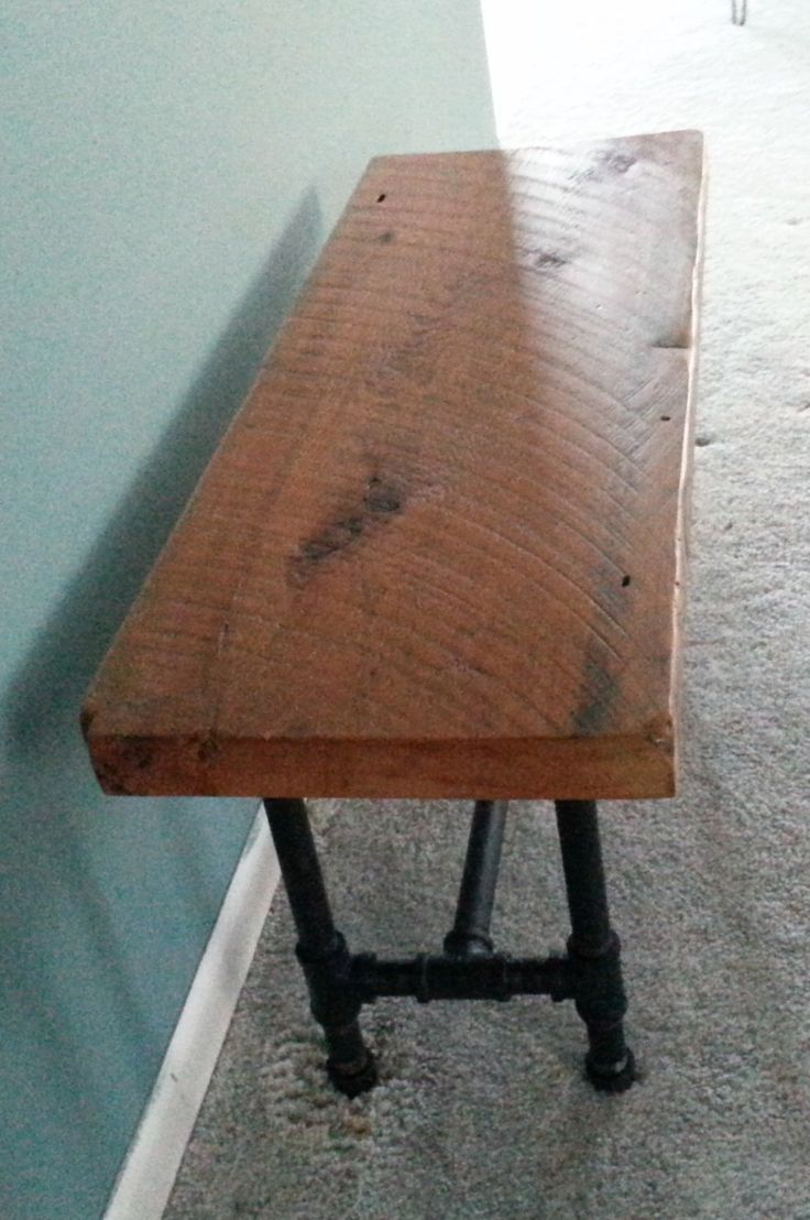 Reclaimed wood bench with industrial pipe legs, dining bench - douglas fir lumber by KReativeWOODworking on Etsy https://www.etsy.com/listing/208609380/reclaimed-wood-bench-with-industrial