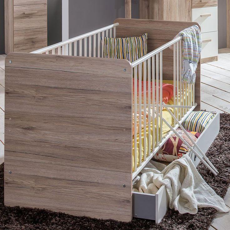 Trend Babyzimmer Set Cariba tlg Schrank trg Wei Eiche San Remo Wimex M bel