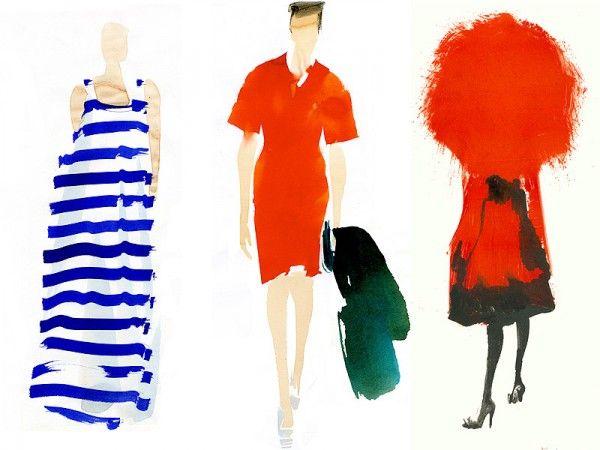 Blue stripes! The lovely work of French illustrator Aurore de La Morinerie.