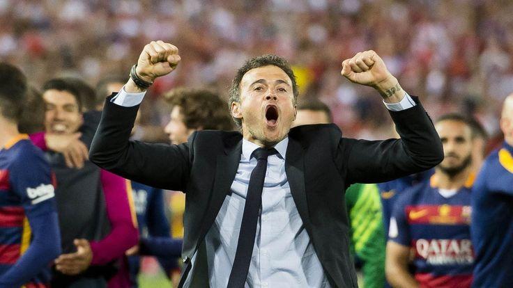 FC Barcelona – Copa del Rey Champions 2016: Luis Enrique celebrating the...
