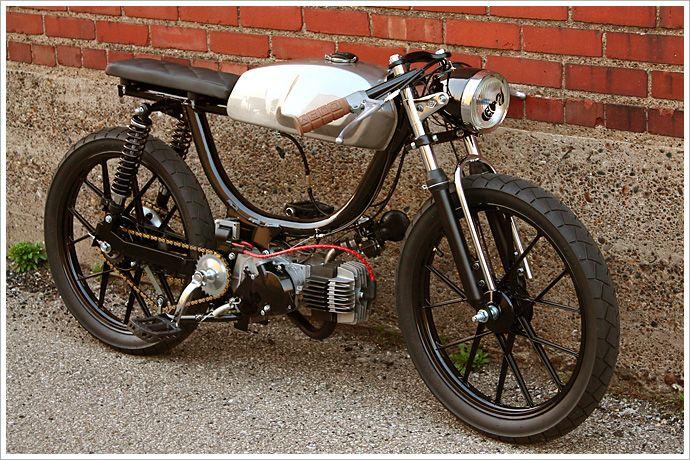 "Revdub's Puch Moped - ""GeneralMayhem"" - Pipeburn - Purveyors of Classic Motorcycles, Cafe Racers & Custom motorbikes"