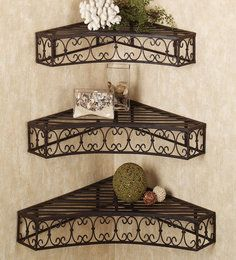 <p>A decorative set of shelves that is sure to add a touch of charm to your dcor, this...</p>