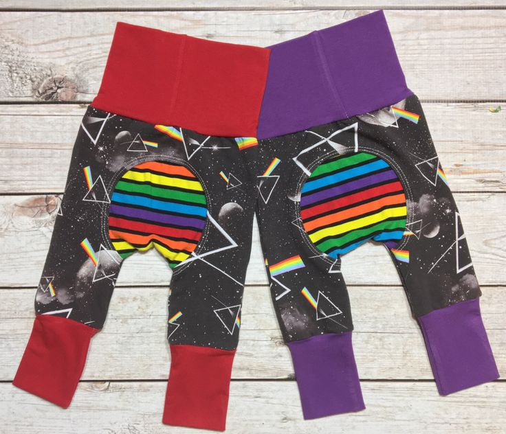 Unisex Grow With Me Pants, Rainbow Prism, Pink Floyd, Classic Rock, Baby pants, Baby going home pants, Baby classic rock clothes, Cool baby by MockingBrdBoutique on Etsy