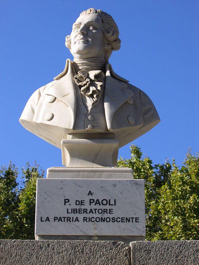 Corsica - A Balagna - Corse - La Balagne --- L'Île-Rousse buste de Pascal Paoli