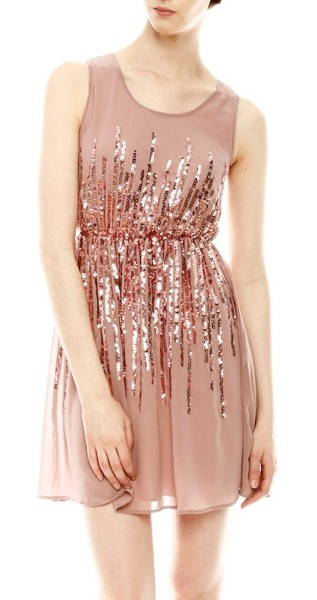 blush sparkle dress