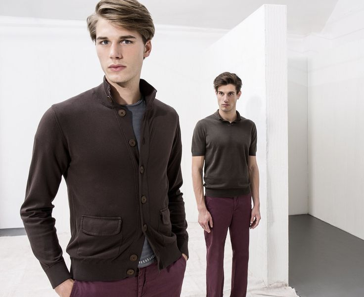 #AlphaStudio Spring Summer Men Collection best seller outfits: slim-fit blouson one color & superlight cotton t-shirt   #SS2015 #florence #knitwear #brown #blouson #fashion #outfit #outfitoftheday #color #collection #menswear #menstyle #mensfashion #style #stylish #stylishoutfit #glamour #shirt #springtime