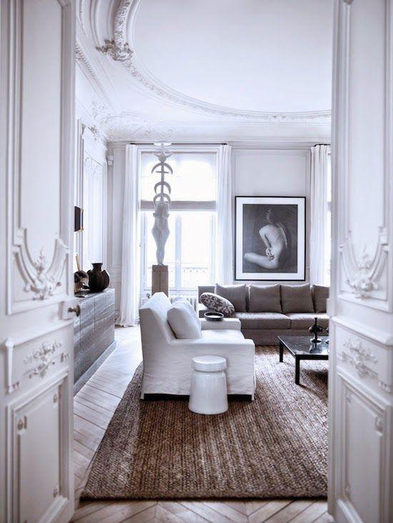 Appartement parisien en blanc chic et minimaliste Etc