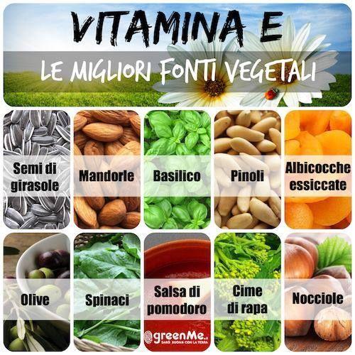 vitamina e le migliori fonti vegetali