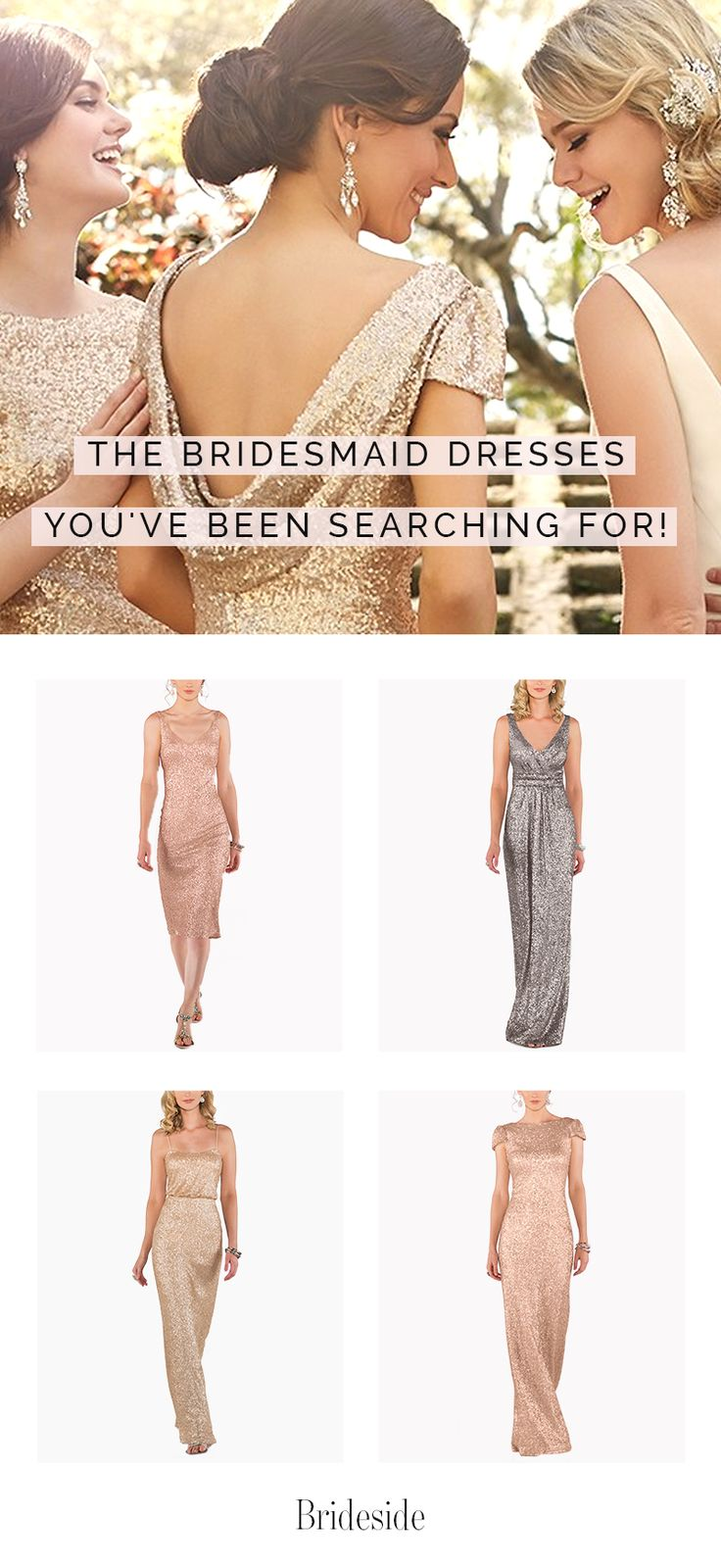 Best 25 metallic bridesmaid dresses ideas on pinterest metallic find the perfect metallic bridesmaid dresses at brideside shop for your favorites and we ombrellifo Gallery