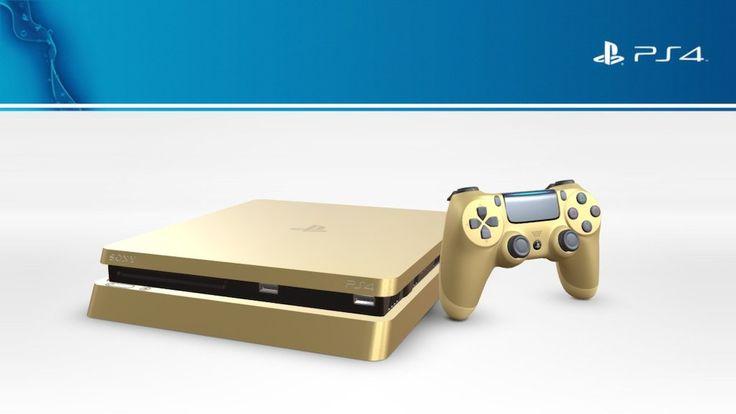 Playstation 4  Slim Gold Limited Edition by Virtual Studio