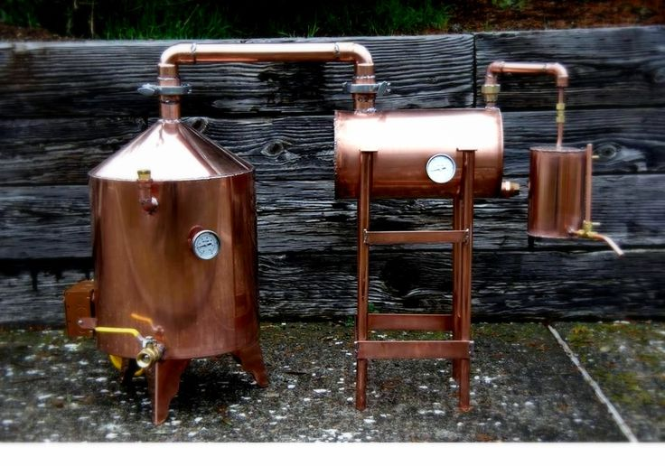 This is a Homemade Copper Pot Still With Thumper and Worm. It's a really sick design!