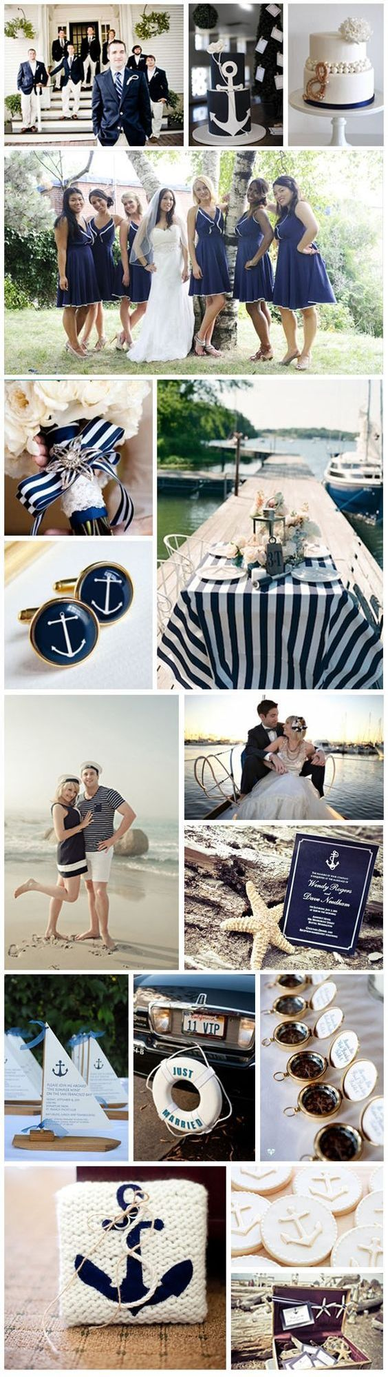 Nautical Theme Wedding Ideas /  http://www.deerpearlflowers.com/incorporate-anchors-into-your-nautical-wedding/