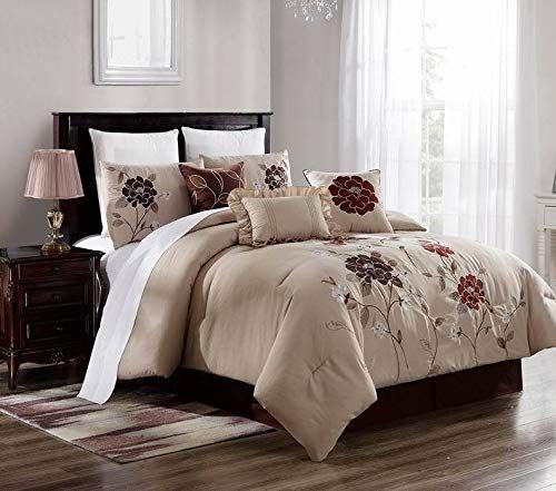 New Bed Collection 3pc Embroidery Duvet Comforter Bed Cover Set W Pillow Shams Color Brenda 5 Size Cal King Duvet Bedding Bed Comforters