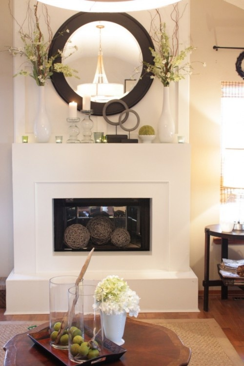 New Pictures Above Fireplace Mantels