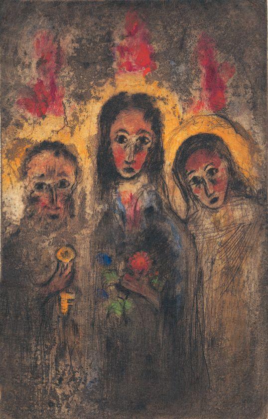 Bohuslav Reynek - Whitsuntide (1950's) #graphics #painting #art #Czechia…