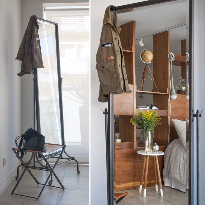 Monoambiente - Espejo y banqueta - Dormitorio
