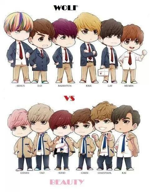 EXO - EXO-K Wolf vs. EXO-M Beauty