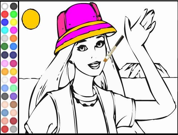 Jogos de colorir online: Barbie Exploradora