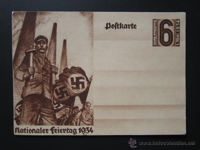 POSTAL NAZI. PROPAGANDA. AÑO 1934. - Foto 1