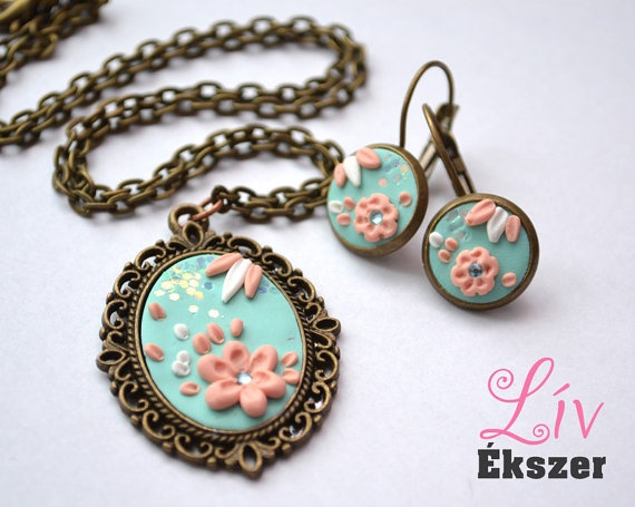 Cherry tree  necklace and earring by livekszer on Etsy, Ft5990.00