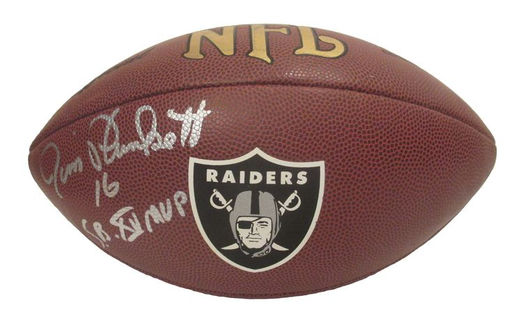 Jim Plunkett Autographed Oakland Raiders Logo NFL Football w/Inscription, Proof  #JimPlunkett #Heisman #SuperBowlMVP #SuperBowl #SBChamps #SuperBowlChamps #OaklandRaiders #OaklandRaiders #Oakland #Raiders #RaiderNation #BlackHole #NFLFootball #NFL #Football #Autographed #Autographs #Signed #Signatures #Memorabilia #Collectibles #FreeShipping #BlackFriday #CyberMonday #AutographedwithProof