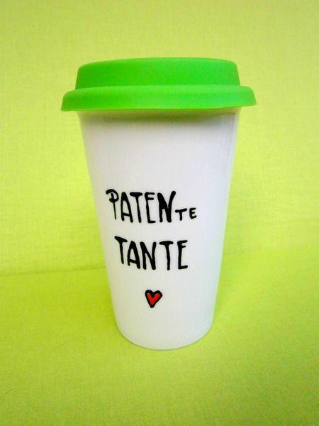 Thermobecher - Coffee to go Becher für Patentante von hochdietassen auf DaWanda.com