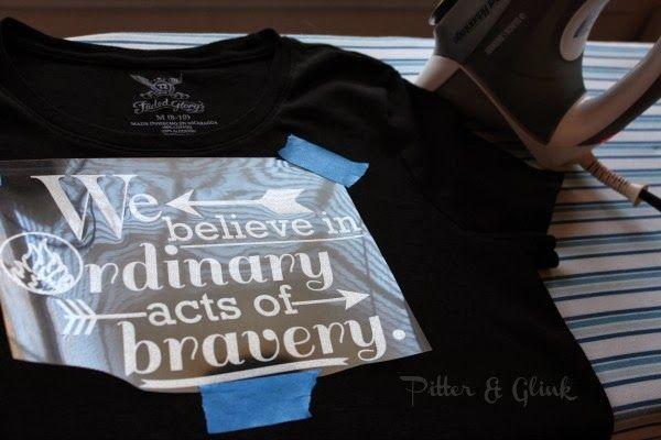 DIY Divergent Inspired Dauntless Quote T-shirt from www.pitterandglink.com