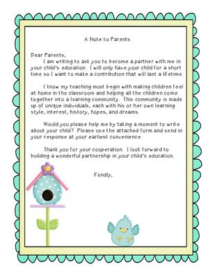 Best  Preschool Welcome Letter Ideas On   Parent
