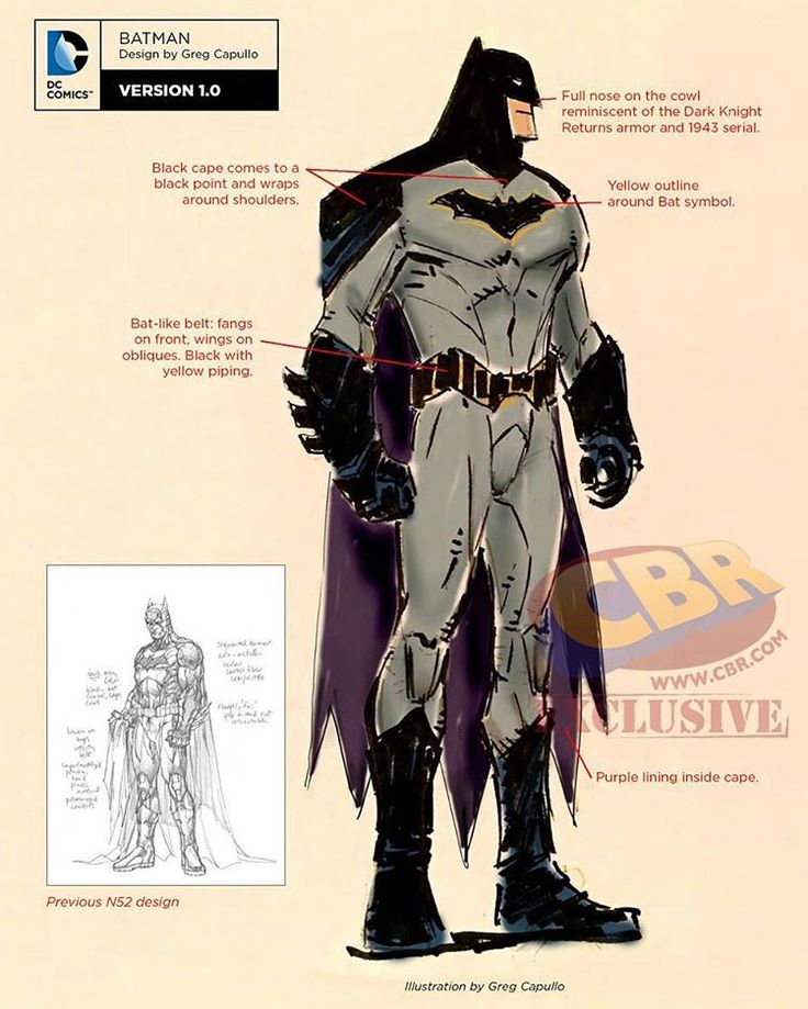 Greg Capullo's Batman Rebirth Redesign