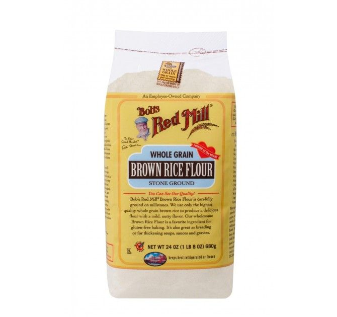 Brown Rice Flour by Bob's Red Mill.  Use for baking or to make homemade rice roti (flatbread).