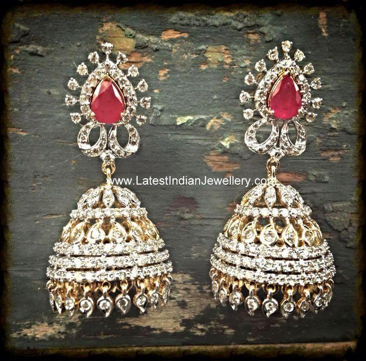Precious Diamond Jhumki Earrings