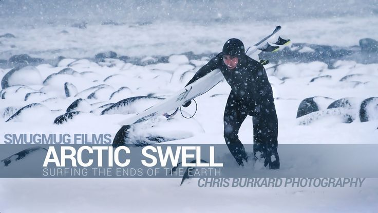Arctic Surfing:  Photographer Chris Burkard and Professional Surfers Patrick Millin, Brett Barley, and Chadd Konig brave sub-zero temperatures in the Arctic Circle to capture...