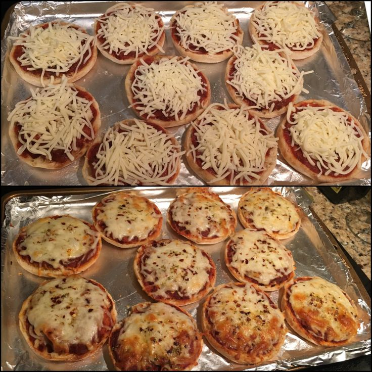 English Muffin Pizzas - quick/easy, great for both kids and adults!