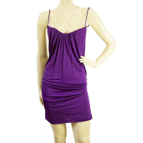 Dsquared 2 D2 Deep Purple Open Back Sexy Draped Mini Dress Size S