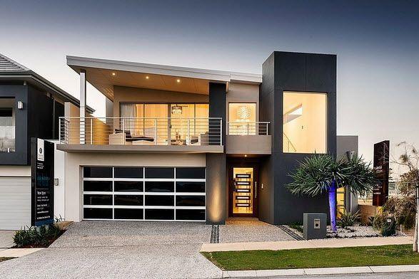 Fachada y diseño interior de casa moderna de dos pisos [fotos ...