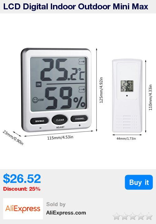 LCD Digital Indoor Outdoor Mini Max Dispaly Weather Station Receiver 8-channel Wireless Thermo-Hygrometer With Jumbo Display * Pub Date: 14:23 Sep 9 2017