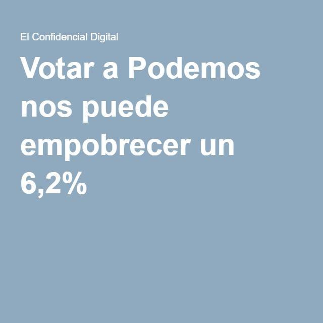 Votar a Podemos nos puede empobrecer un 6,2%