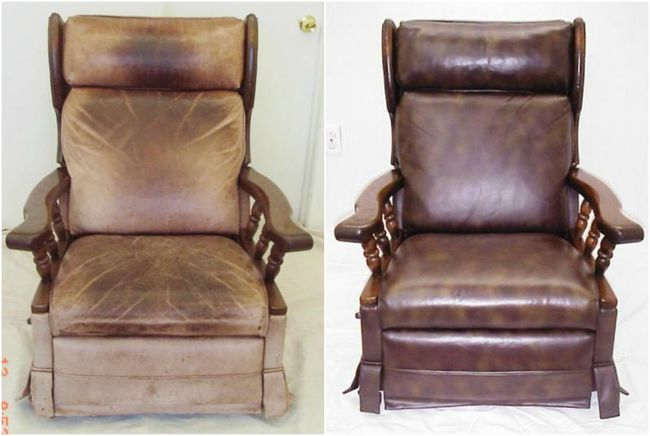 6.) Revitalize Leather Furniture. Buff worn leather furniture with shoe polish. Scrapes and scuffs will disappear.