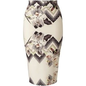 Miss Selfridge Floral Skirt, Multi