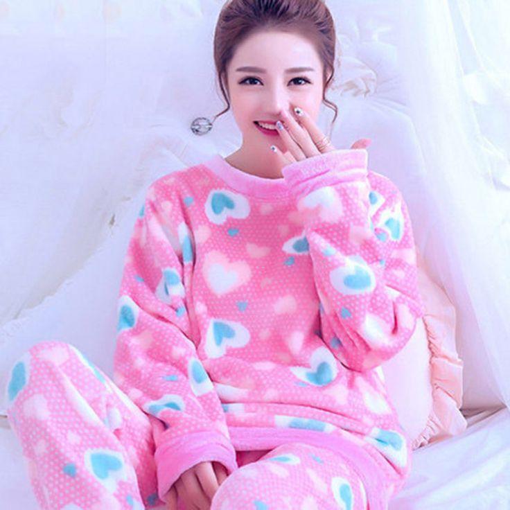 Cheap fleece sleepwear, Buy Quality winter woman pajamas directly from China women pajamas Suppliers: Autumn Winter Women Pajamas Coral Fleece Sleepwear Warm Bathrobe Nightgowns Kimono Pyjamas
