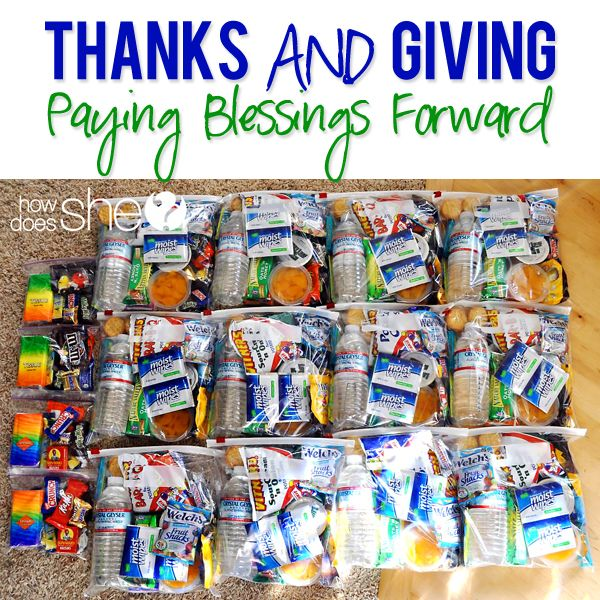 Paying Blessings Forward  #howdoesshe #blessingbags #familyserviceideas howdoesshe.com