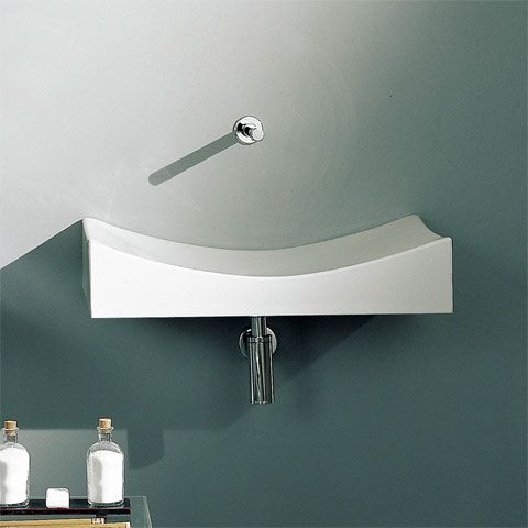 nameeks scarabeo tsunami 70 above counter bathroom sink in white from the scarabeo tsunami collection this minimalist style sink is perfect for the