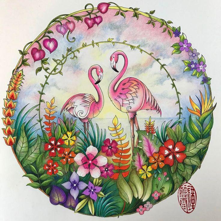 2,128 отметок «Нравится», 53 комментариев — Chris Cheng (@colorvscolour) в Instagram: «Pink Flamingo  NEW video is up, link is in my bio @colorvscolour . #magicaljungle #johannabasford…»