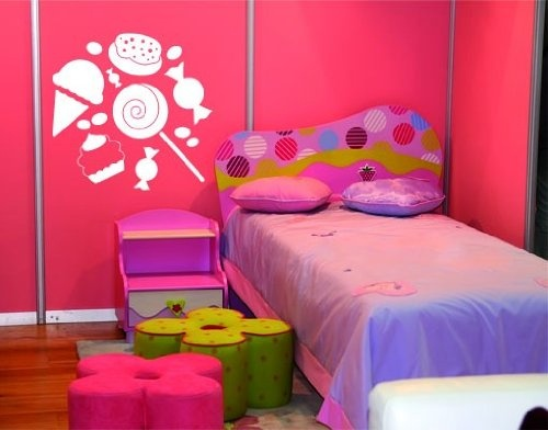 127 best images about candy themed bedrooms on pinterest for Candy bedroom ideas