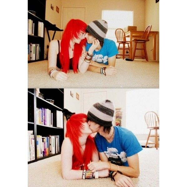 scene couple | Tumblr ❤ liked on Polyvore featuring couples and people