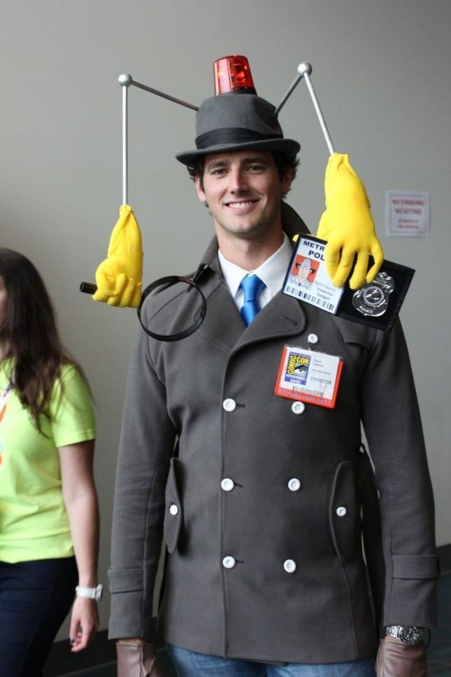 This Inspector Gadget costume is amazing. #diyhalloweencostumes