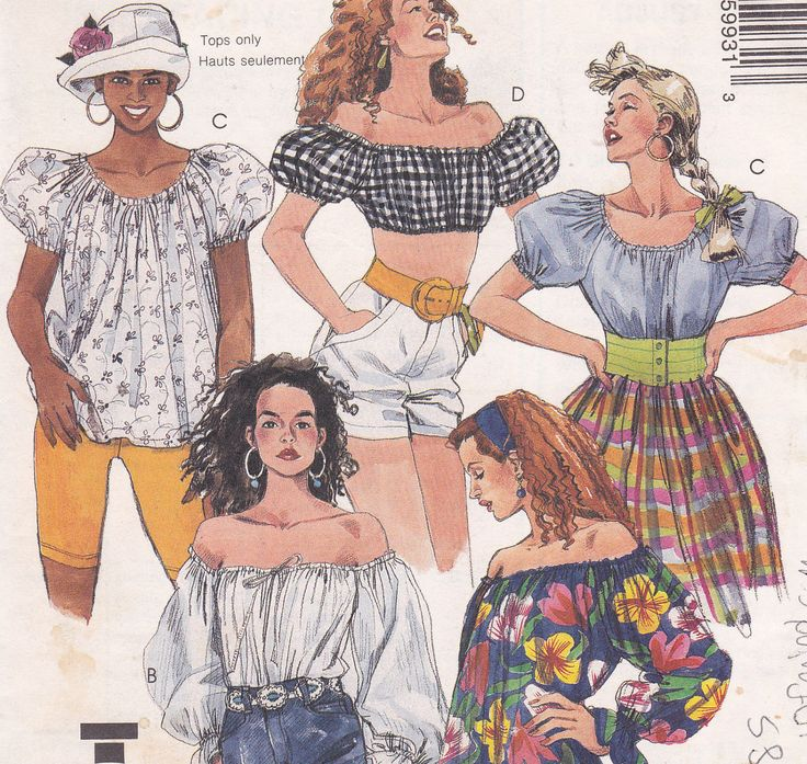 The easy 60 minute Peasant Blouse sewing pattern McCalls 5993