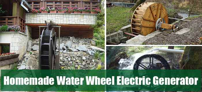 Homemade Water Wheel Electric Generator Http Www