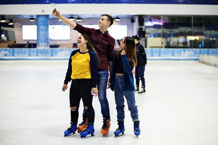 Download Premium Image Of Teenage Selfie Together At Ice Skate 401407 Ice Skating Teenager Skate